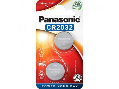 PANASONIC Lithium, Batérie, CR2032, 3V, 2ks