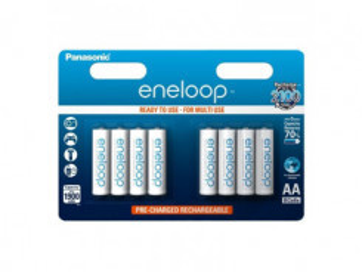 PANASONIC Eneloop, Batérie, BK-3MCCE, AA, 8ks