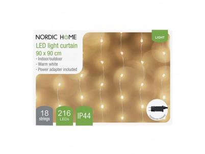 DELTACO Vianočné osvetlenie záves, 90x90cm