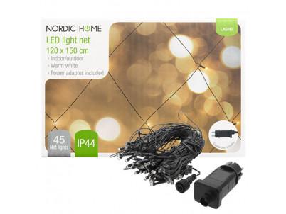 DELTACO Vianočné osvetlenie sieť,120x150cm