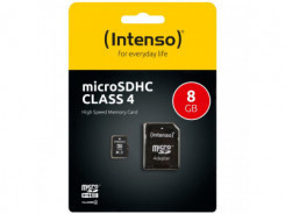 INTENSO Micro SDHC karta 8GB Class4