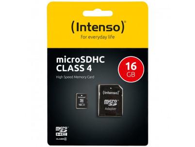 INTENSO Micro SDHC karta 16GB Class4