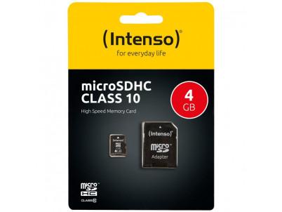 INTENSO Micro SDHC karta 4GB Class10
