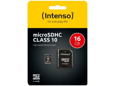 INTENSO Micro SDHC karta 16GB Class10