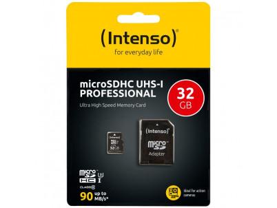 INTENSO Micro SDHC karta 32GB Class10, UHS-1 PRO