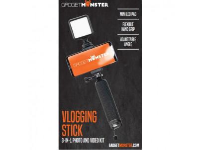 GADGETMONSTER GDM-1021, LED Selfie tyč