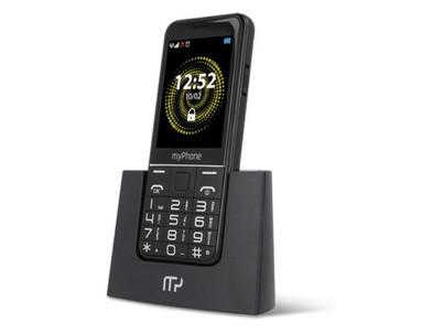 Halo Q Senior tlačidlový čierny myPhone
