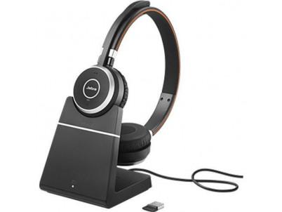 JABRA Evolve 65 Duo, USB-BT, MS (Skype), stojan