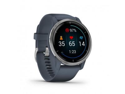 GARMIN VENU 2, Smart hodinky, Silver/Granite Blue
