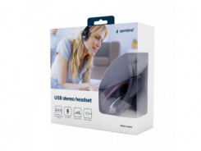 GEMBIRD MHS-U-001, Slúchadlá USB, čierne