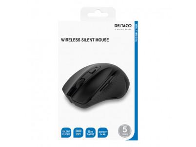 DELTACO MS-802, Bezdrôtová myš, 1x AA, 800-2400DPI