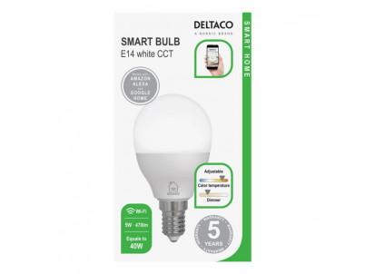 DELTACO SH-LE14G45W, SMART Led žiarovka, E14