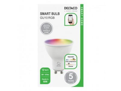 DELTACO SH-LGU10RGB, SMART Led žiarovka, GU10