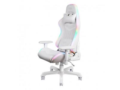 DELTACO GAM-080-W, Herná stolička, biela