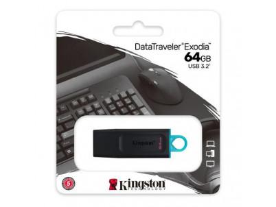 KINGSTON DataTraveler EXODIA 64GB blk/blu