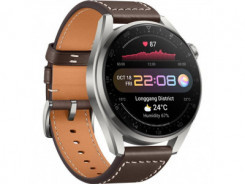 HUAWEI Watch 3 Pro, Brown Leather