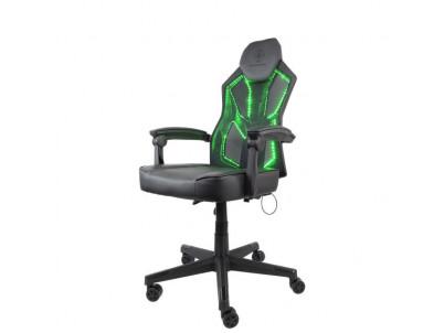 DELTACO GAM-086, RGB Herná stolička čierna