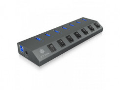RAIDSONIC ICY BOX - 7x USB 3.0, 1x USB Type C, HUB
