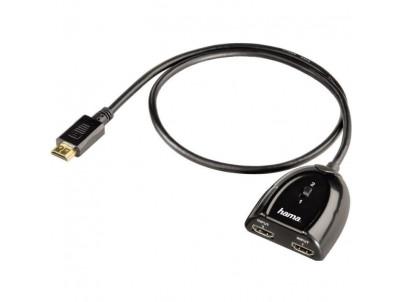 HAMA HDMI prepínač 2x1, manuálny